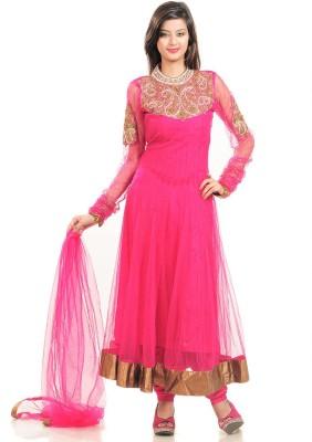 Tech Net Solid Salwar Suit Dupatta Material