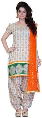 Ethinic Queen Net Embroidered Semi-stitched Salwar Suit Dupatta Material