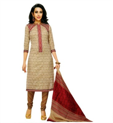 Rajhans Creation Cotton Printed Salwar Suit Dupatta Material