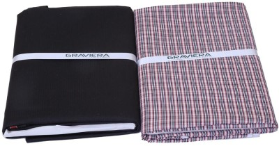 Graviera Cotton Polyester Blend Checkered Shirt & Trouser Fabric