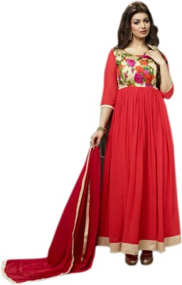 FASHIONUMA Georgette Printed Semi-stitched Salwar Suit Dupatta Material
