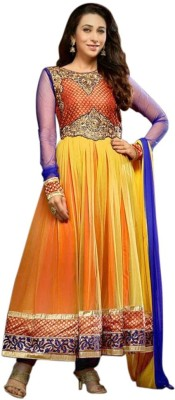 BWClothings Georgette, Chiffon Embroidered Semi-stitched Salwar Suit Dupatta Material