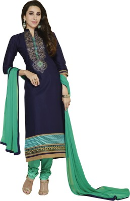 Blissta Cotton Embroidered Salwar Suit Dupatta Material