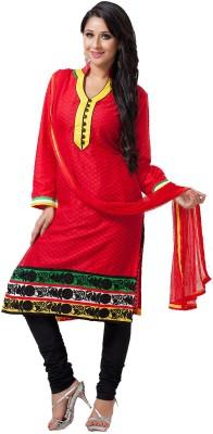 Aapno Rajasthan Jacquard Printed Semi-stitched Salwar Suit Dupatta Material