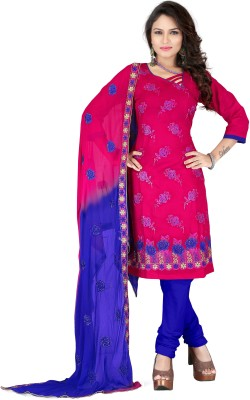 Vardhman Synthetics Cotton Embroidered Dress/Top Material