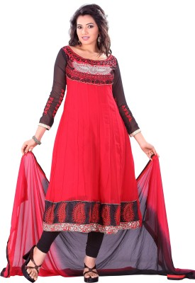 Silkbazar Synthetic Georgette Self Design Dress/Top Material