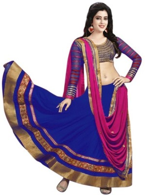 Accurate Collection Georgette Embroidered Lehenga Choli Material