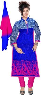 Dk Fab Cotton Embroidered, Self Design Salwar Suit Dupatta Material