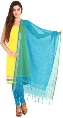 Pratami Cotton Floral Print Salwar Suit Dupatta Material