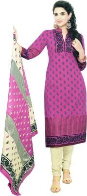 Selection Indigo Cotton Printed Salwar Suit Dupatta Material