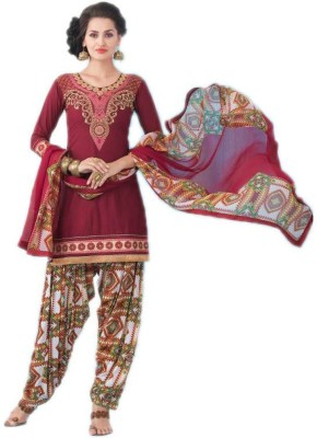 Venusindr Cotton Embroidered, Printed Salwar Suit Dupatta Material