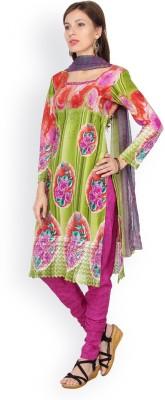 Shah Fabrics Cotton Floral Print Salwar Suit Dupatta Material