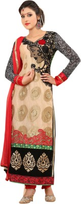 De Marca Georgette, Net Embroidered Salwar Suit Dupatta Material