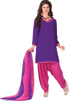 Vastrani Crepe Solid Salwar Suit Dupatta Material