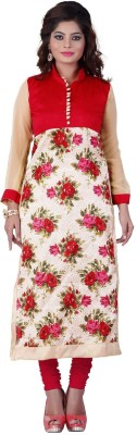Fashion Spot Silk Printed Kurti Fabric
