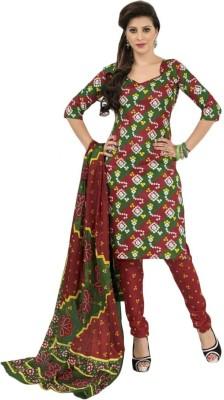 Sonal Trendz Cotton Floral Print Dress/Top Material