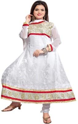 Krizel Trendz Georgette Self Design Salwar Suit Dupatta Material