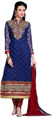 Vastrakosh Georgette Embroidered Salwar Suit Dupatta Material