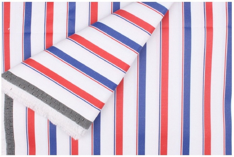 SAHYHOG GWALIOR Cotton Polyester Blend Striped Shirt Fabric, Shirt & Trouser Fabric(Un-stitched)