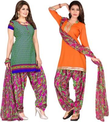Aagamanfashion Polyester Printed Salwar Suit Dupatta Material