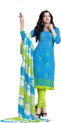 Shahlon Chanderi, Cotton Embroidered Salwar Suit Dupatta Material