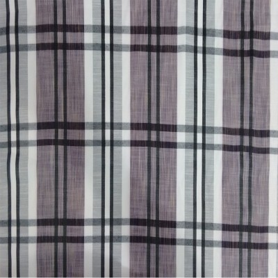 Checks Cotton Polyester Blend Checkered Shirt Fabric