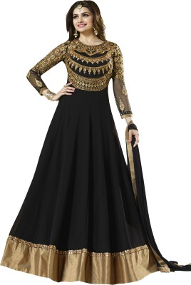 Fashion4masti Georgette Embroidered Semi-stitched Salwar Suit Material