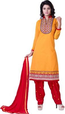 Krizel Trendz Cotton Embellished Dress/Top Material