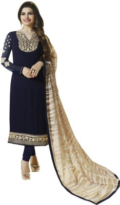 Dealfiza Georgette Embroidered Salwar Suit Material