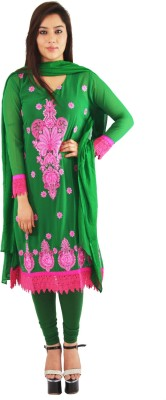 TII(This Is India) Georgette Embroidered Semi-stitched Salwar Suit Dupatta Material
