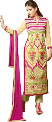 RJ Georgette Embroidered Salwar Suit Dupatta Material