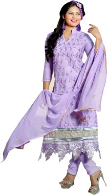 Radhe Studio Cotton Embroidered Semi-stitched Salwar Suit Dupatta Material