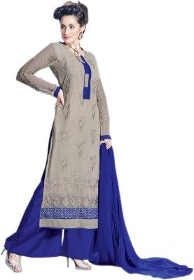 Laroyal Georgette Embroidered Salwar Suit Dupatta Material
