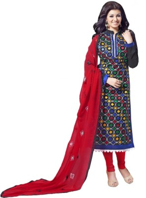 Amrozia Chanderi Embroidered Salwar Suit Dupatta Material
