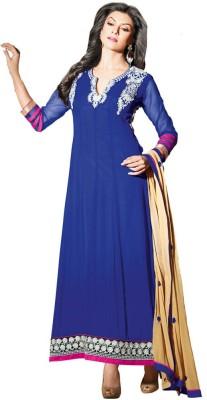 Susmita Georgette Solid Dress/Top Material
