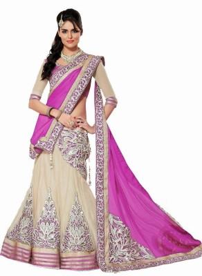 Savitri Creations Net, Chiffon, Silk Embroidered Lehenga Choli Material