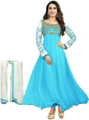 Tohfa Georgette Embroidered Dress/Top Material