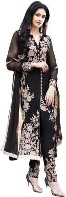FashionsBazaar Georgette Embroidered Semi-stitched Salwar Suit Dupatta Material
