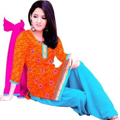 FASHION FLASH Cotton Embellished Salwar Suit Dupatta Material