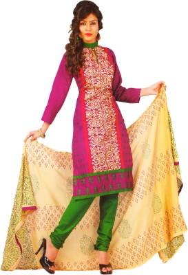 Women Shoppee Cotton Printed Salwar Suit Dupatta Material