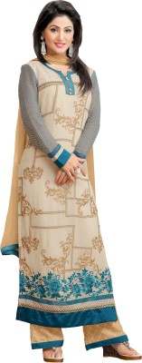 Amrozia Georgette Embroidered, Printed Salwar Suit Dupatta Material