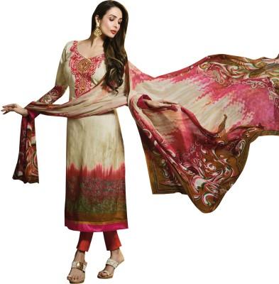 Bhelpuri Cotton, Chiffon Embroidered, Printed Dress/Top Material