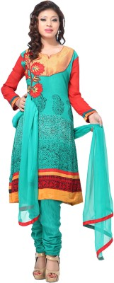 Aapno Rajasthan Georgette Printed Semi-stitched Salwar Suit Dupatta Material