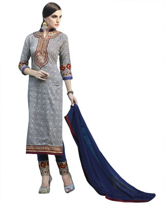 BlueWoman Cotton Embroidered Salwar Suit Dupatta Material