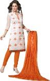 Raagvi Chanderi Embroidered Dress/Top Ma...
