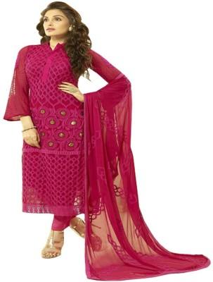 Adorn Fashion Chiffon Embroidered Semi-stitched Salwar Suit Dupatta Material