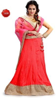 Parvati Fabrics Silk Self Design Lehenga Choli Material