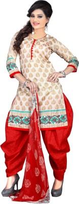 Triveni Silk Printed Salwar Suit Dupatta Material