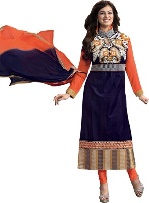 Fashion World01 Cotton Embroidered Salwar Suit Material