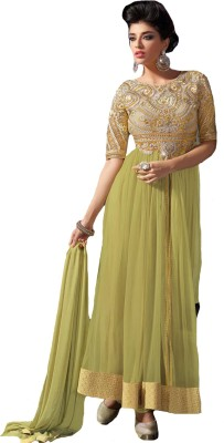 J AND J FASHION Net Embroidered Dress/Top Material